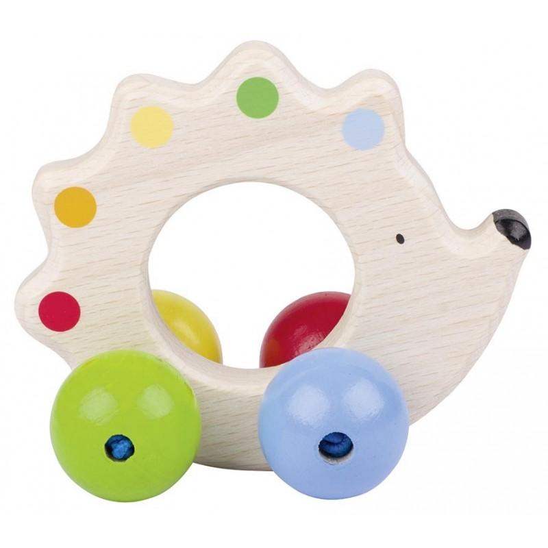 Anneau en bois à attraper-hérisson - Goki Heimess| Bambin Bois, jeux et jouets en bois