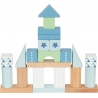 Jeu de construction bleu et vert  ☝️ 50 blocs - Jouet en bois tendance