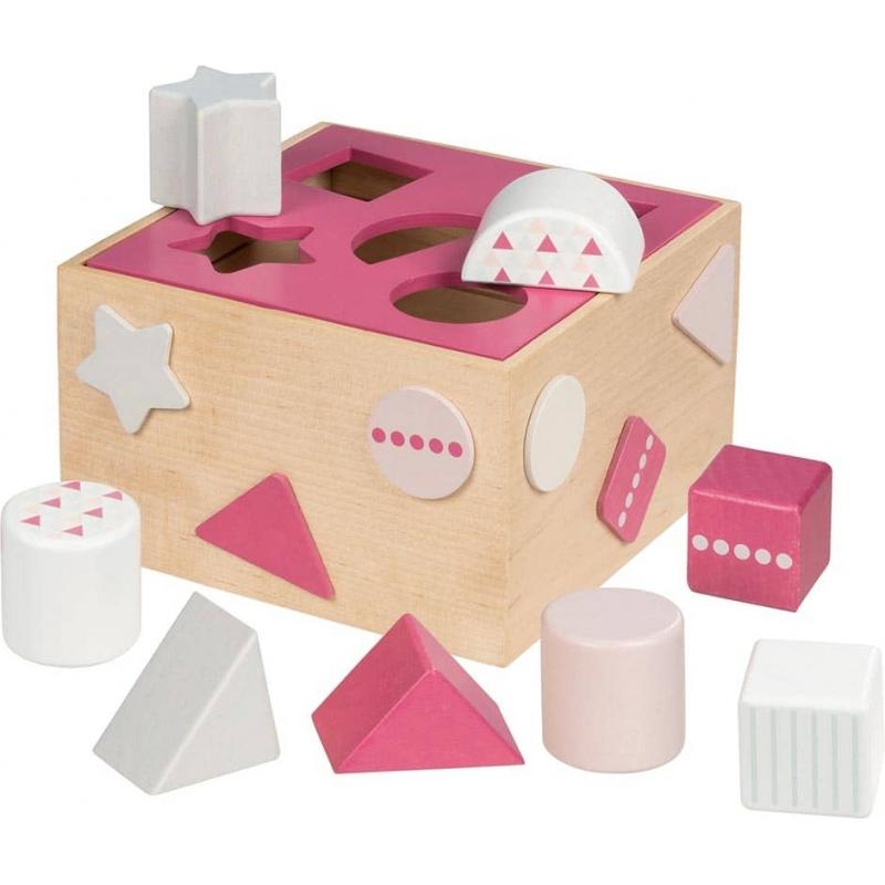 Boite à forme en bois ☝ ROSE -  Goki - Jouet en bois pour fille