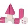 20 blocs de construction rose ☝️ + chariot à tirer - Jouet en bois GOKI