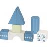 20 blocs de construction Bleu et vert ☝️ + chariot à tirer - GOKI