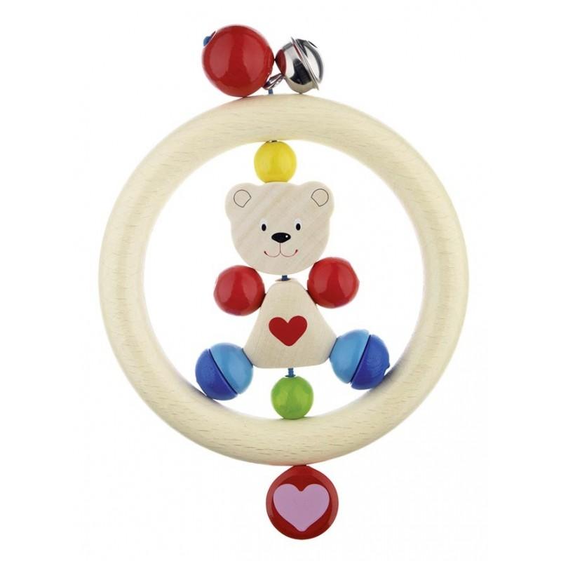 Hochet en bois - ourson - Goki Heimess| Bambin Bois, jeux et jouets en bois