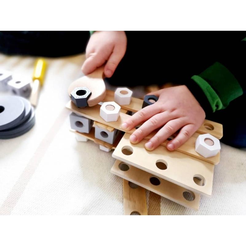 Meccano en bois - jeu d'assemblage à partir de 3 ans ☝ SmallFoot