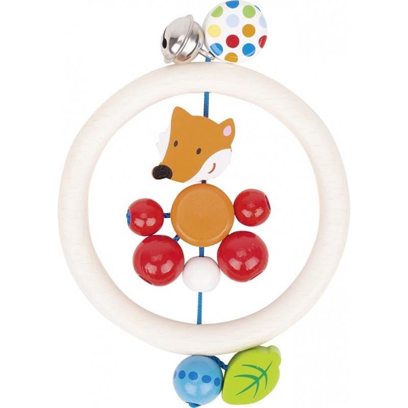 Hochet en bois - renard - Goki Heimess| Bambin Bois, jeux et jouets en bois