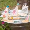 Jouet en bois pour le bain ⛵ Le Catamaran | BambinBois