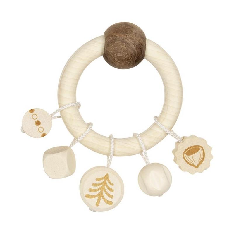 Hochet en bois sans peinture - écureuil - Goki Nature Heimess| Bambin Bois, jeux et jouets en bois