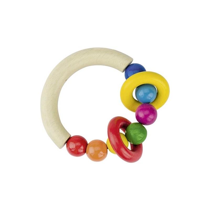 Hochet demi-cercle en bois - Goki Heimess  Bambin Bois, jeux et jouets en bois