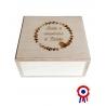 Boite et cube personnalisable | Cadeau de naissance fabriqué en France