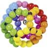 Hochet bois - balle arc-en-ciel flexible - Goki Heimess| Bambin Bois, jeux et jouets en bois