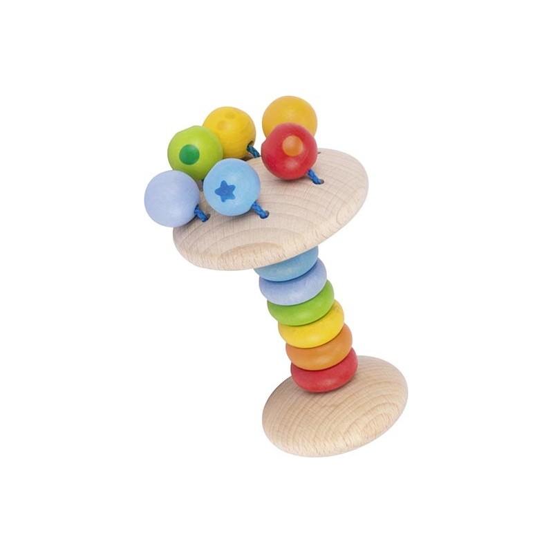 Anneau bois à attraper flexible - arc-en-ciel - Goki Heimess| Bambin Bois, jeux et jouets en bois