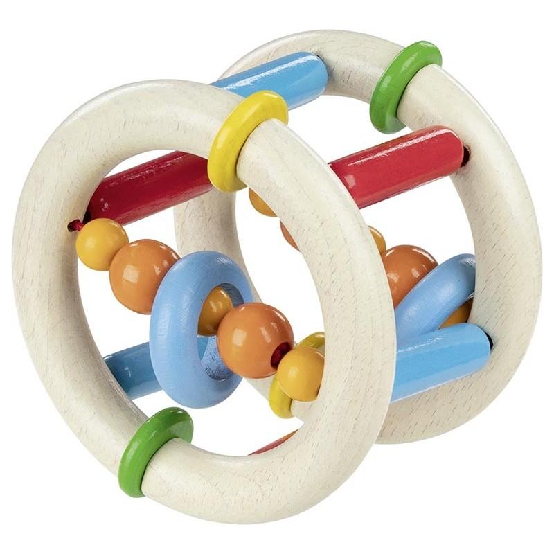Hochet bois flexible à faire rouler - Goki Heimess  Bambin Bois, jeux et jouets en bois