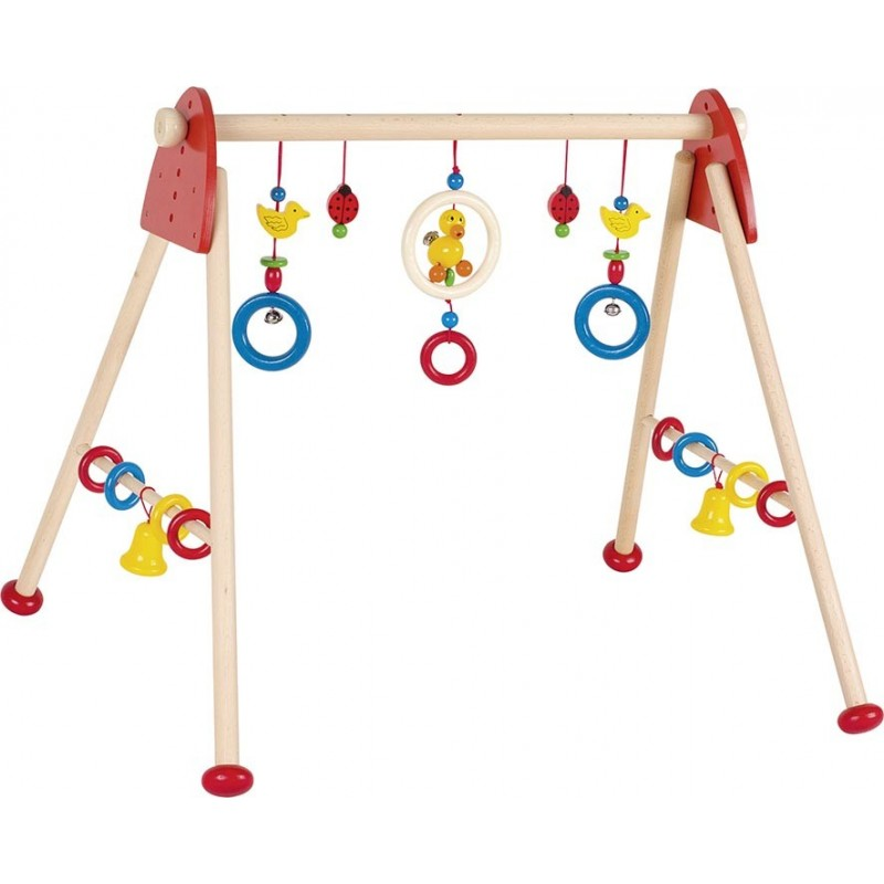 Portique d'activités en bois - canard dansant - Goki Heimess| Bambin Bois, jeux et jouets en bois