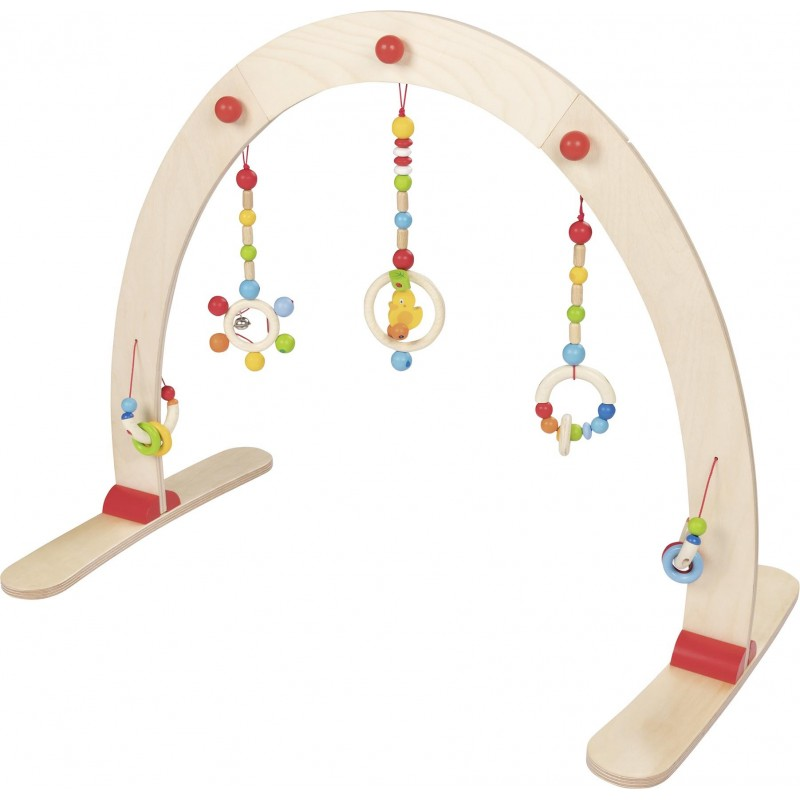Portique d'activité en bois - canard - Goki Heimess| Bambin Bois, jeux et jouets en bois