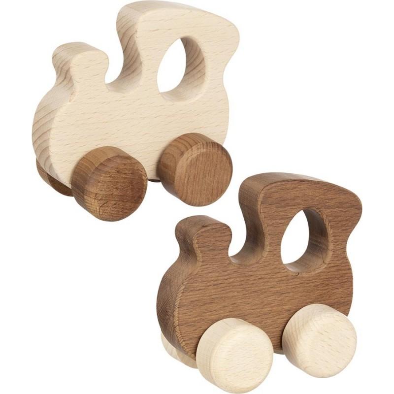 Locomotive en bois - goki nature| Bambin Bois, jeux et jouets en bois