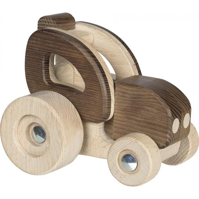 Tracteur en bois - goki nature| Bambin Bois, jeux et jouets en bois
