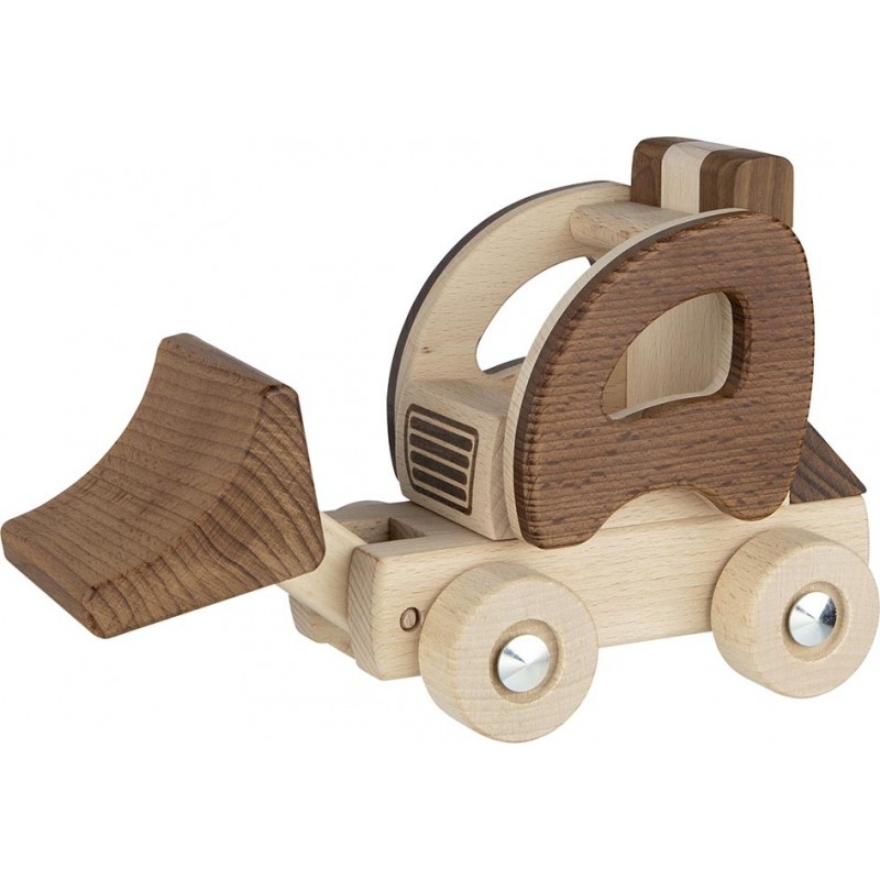 Tractopelle en bois - goki nature| Bambin Bois, jeux et jouets en bois