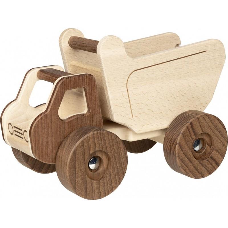 Camion plateau en bois - goki nature| Bambin Bois, jeux et jouets en bois
