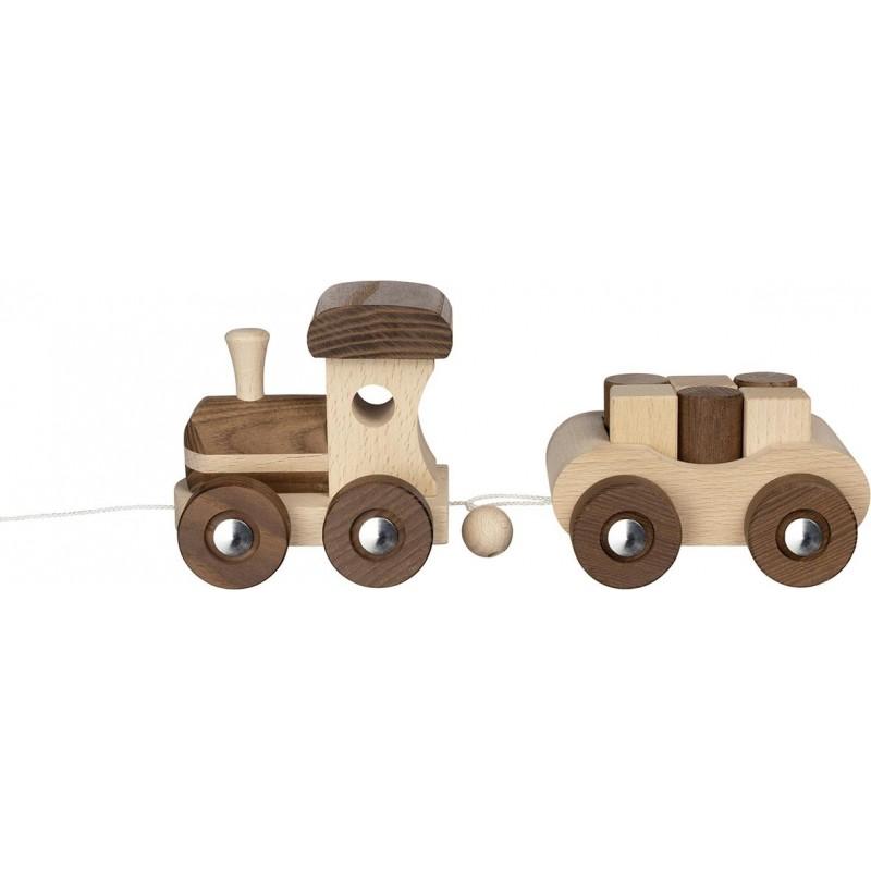 Train en bois - Goki nature - modèle Vancouver| Bambin Bois, jeux et jouets en bois