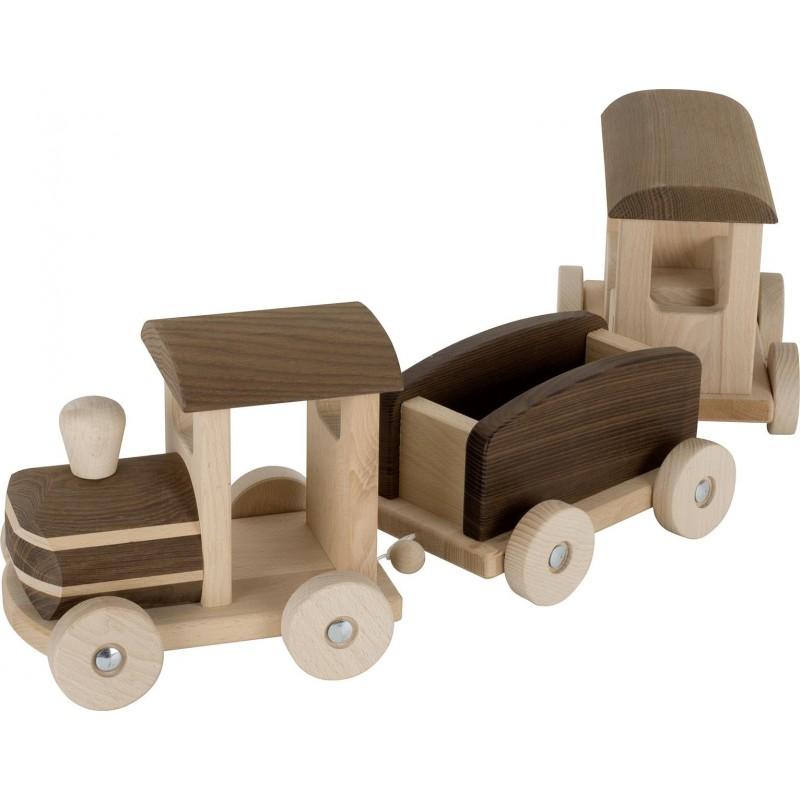 Train en bois - goki nature  - modèle Bern  Bambin Bois, jeux et jouets en bois
