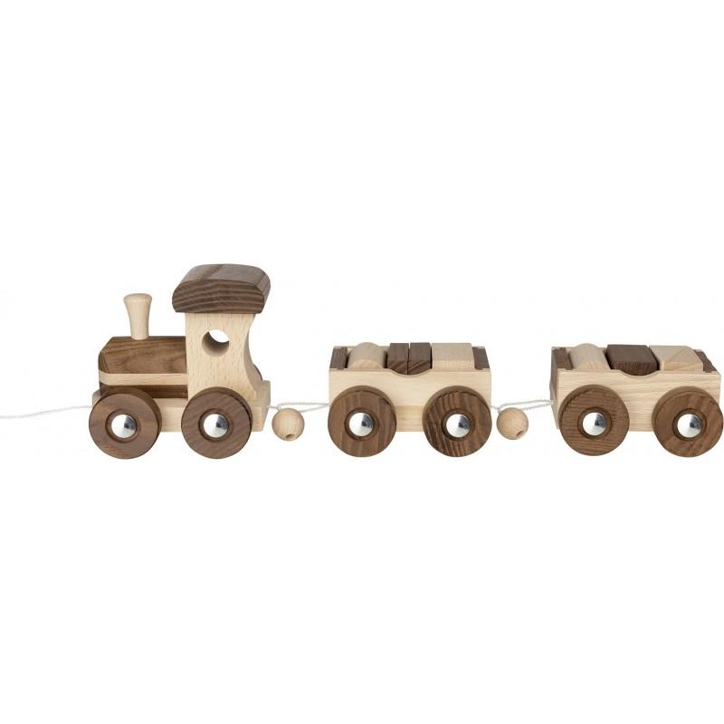 Train en bois - goki nature- modèle Amsterdam | Bambin Bois, jeux et jouets en bois