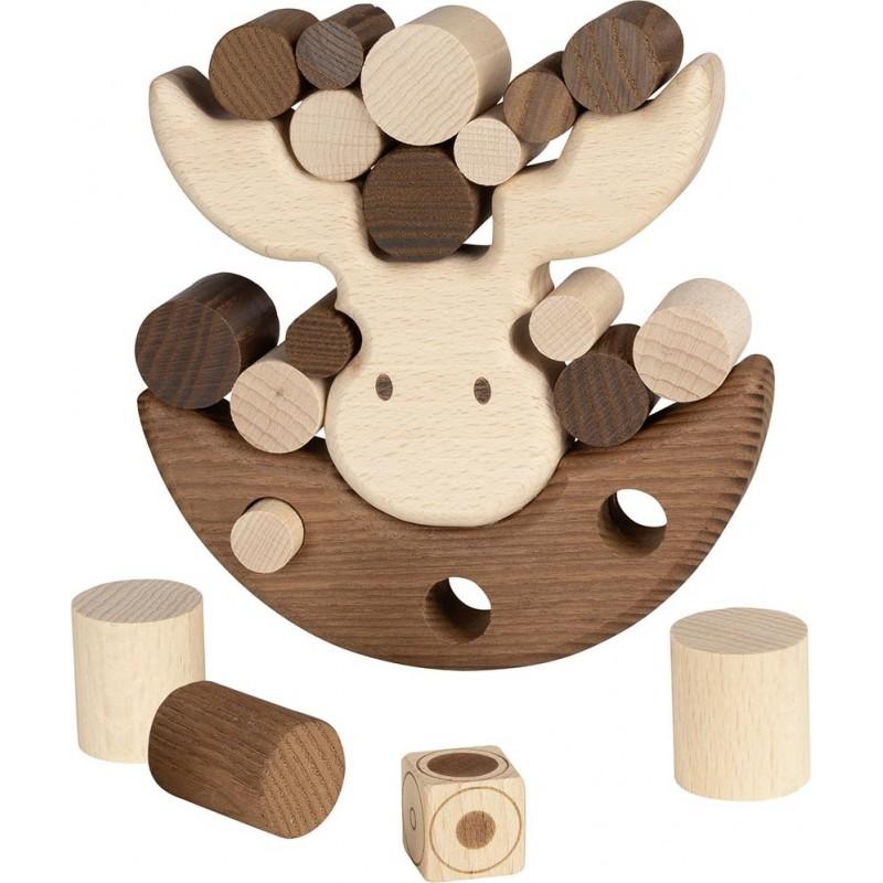 L'élan équilibriste - jeu équilibre en bois - goki nature| Bambin Bois, jeux et jouets en bois