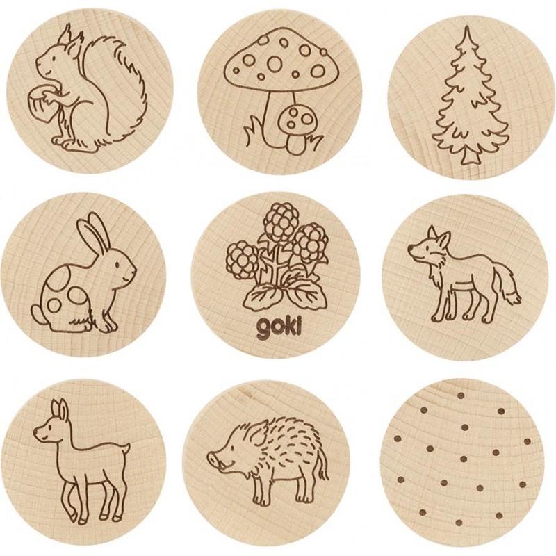 Jeu de mémoire en bois - forêt - Goki nature| Bambin Bois, jeux et jouets en bois