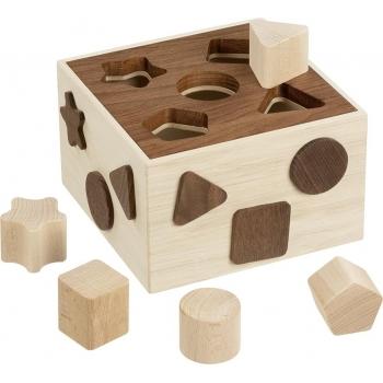 Boîte à formes en bois brut...