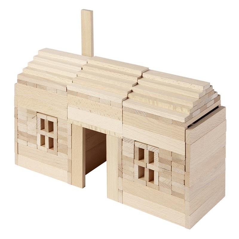 Jeu de construction 200 pièces, goki nature  Bambin Bois, jeux et jouets en bois