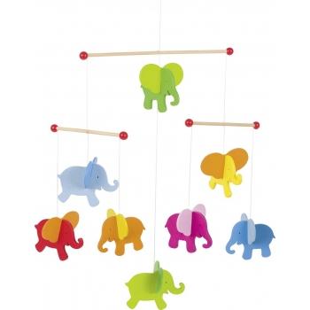 Mobile en bois - Eléphants