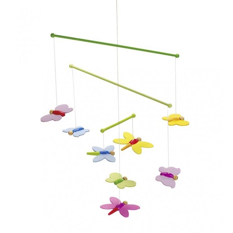 Mobile en bois - Papillons| Bambin Bois, jeux et jouets en bois