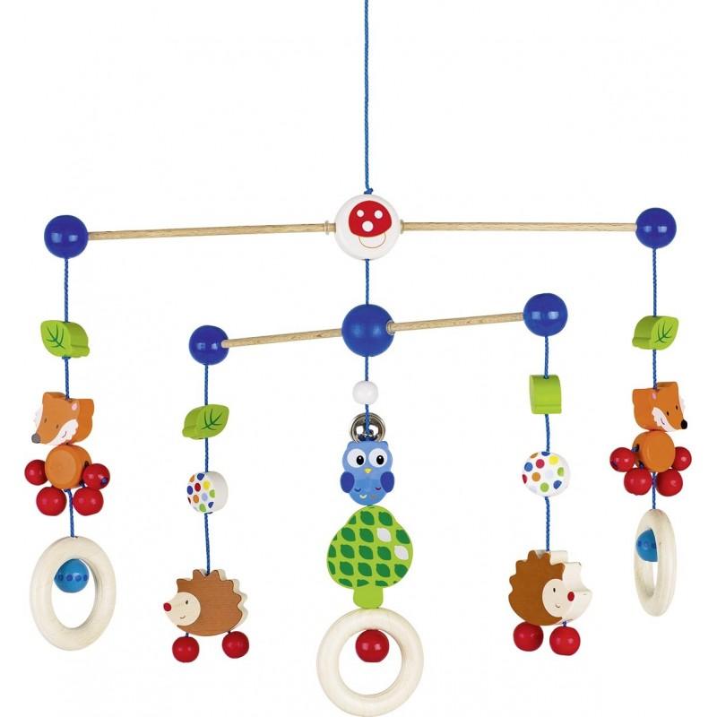 Mobile en bois - Les animaux de la forêt| Bambin Bois, jeux et jouets en bois