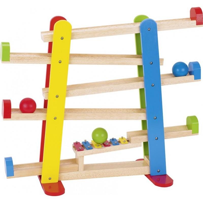Toboggan à boules - Xylophone| Bambin Bois, jeux et jouets en bois