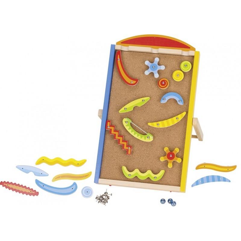 Toboggan à billes - Pinball| Bambin Bois, jeux et jouets en bois