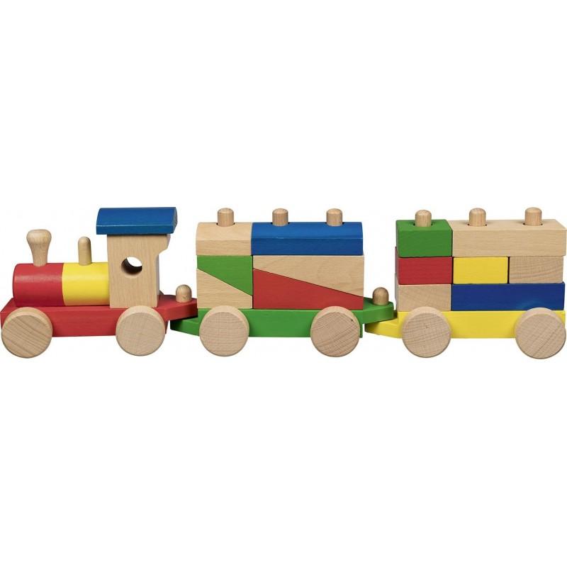 Train en bois avec briques  Bambin Bois, jeux et jouets en bois
