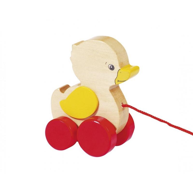 Animal à tirer en bois - Le canard| Bambin Bois, jeux et jouets en bois
