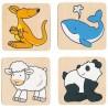 Jeu de mémorisation en bois (32 éléments)-animaux| Bambin Bois, jeux et jouets en bois