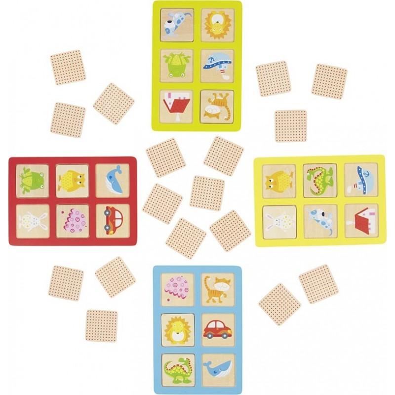 Loto et mémoire - Jeu 2 en 1| Bambin Bois, jeux et jouets en bois
