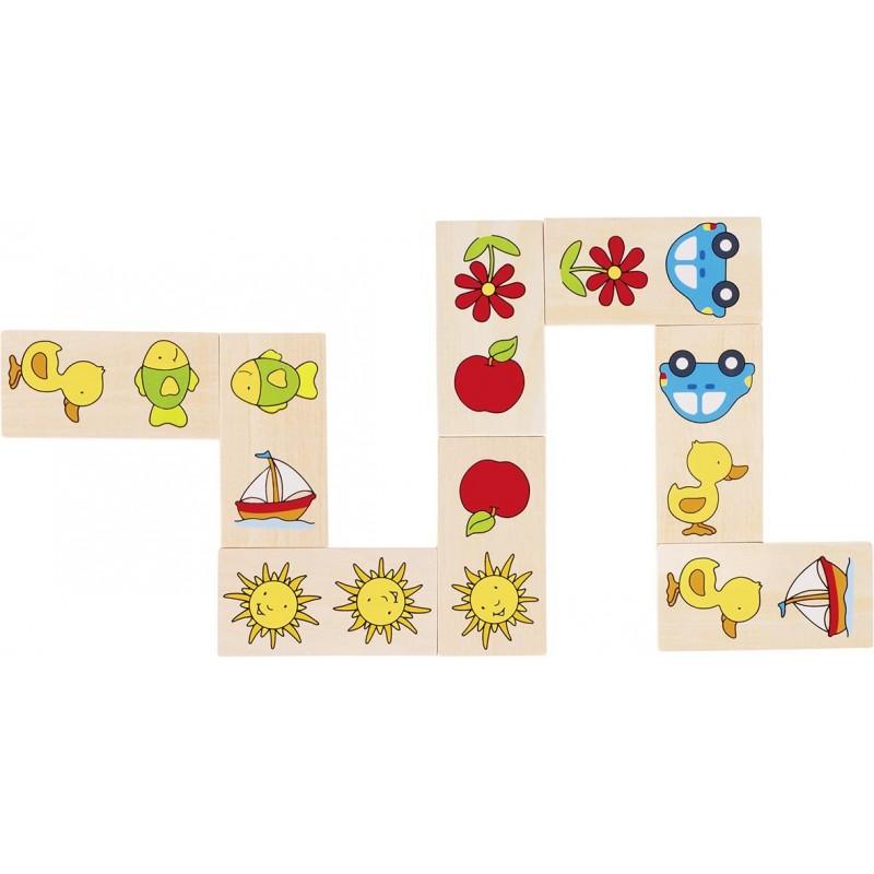 Domino image - Jeu en bois à partir de 2 ans  Bambin Bois, jeux et jouets en bois