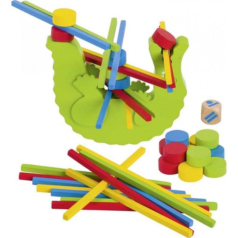 Jeu d'adresse – le crocodile| Bambin Bois, jeux et jouets en bois