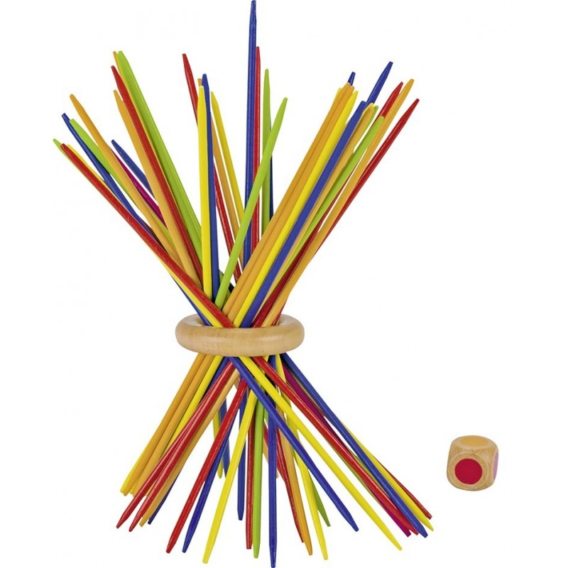 Mikado multicolore| Bambin Bois, jeux et jouets en bois