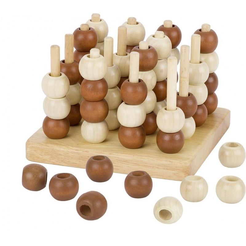 Tic Tac Toe en bois et 3D| Bambin Bois, jeux et jouets en bois
