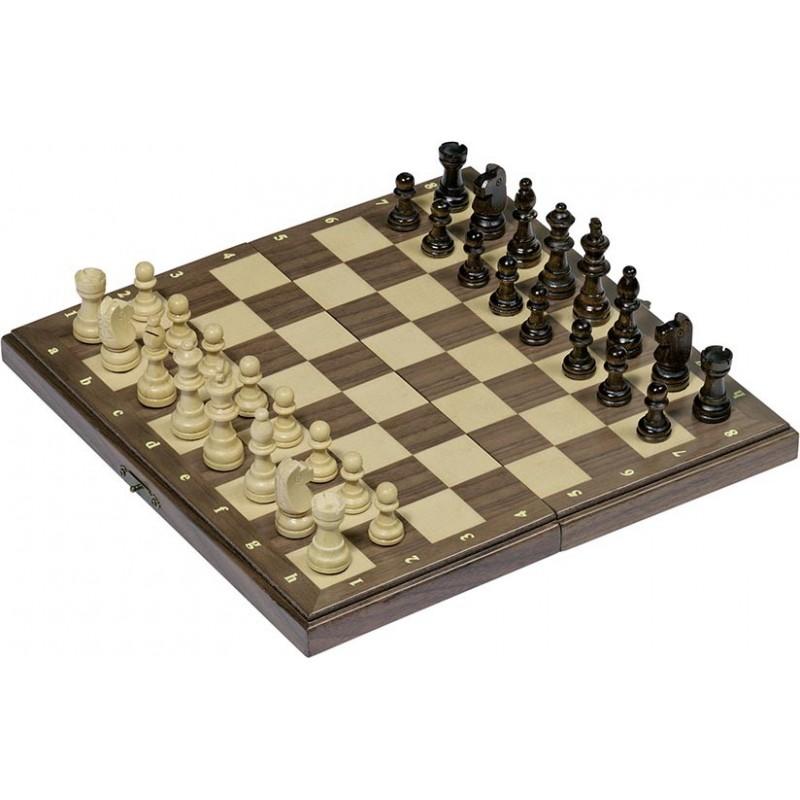 Jeu d'échecs magnétique-boîte en bois pliable| Bambin Bois, jeux et jouets en bois