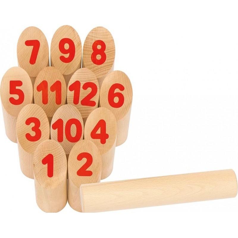 Jeu norvégien- Number Kubb  Bambin Bois, jeux et jouets en bois