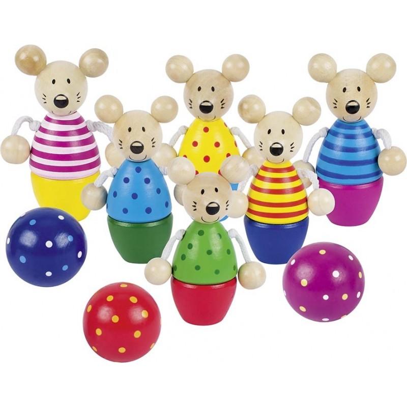 Jeu de quilles des souris| Bambin Bois, jeux et jouets en bois