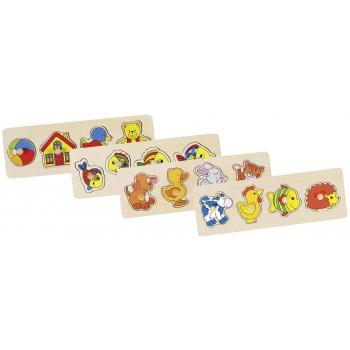 Lot de 4 puzzles en bois à...
