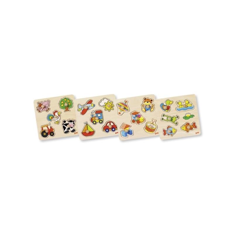 4 puzzles en bois à encastrement - 3| Bambin Bois, jeux et jouets en bois