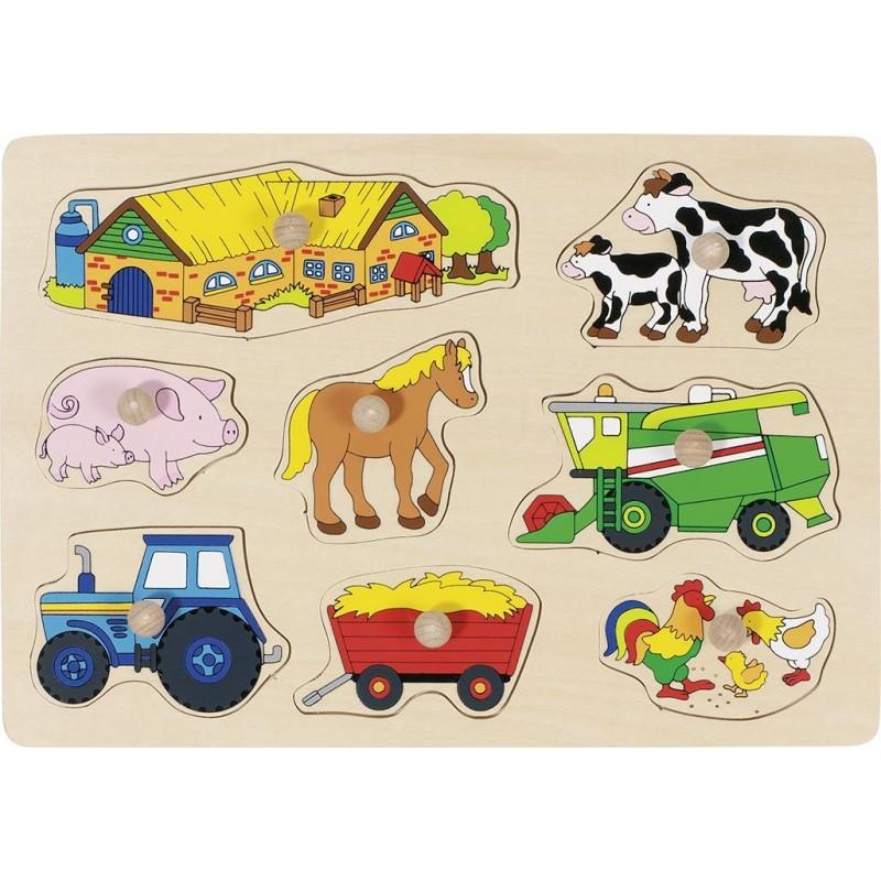 Puzzle bois bébé-Ferme 2| Bambin Bois, jeux et jouets en bois