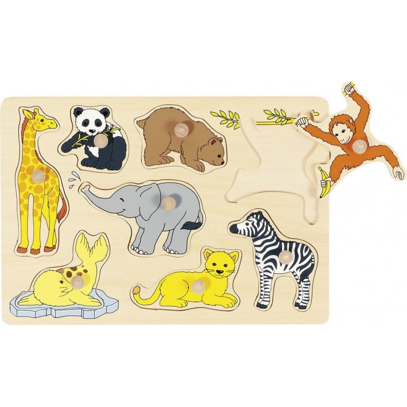 Puzzle bois bébé-Animaux| Bambin Bois, jeux et jouets en bois