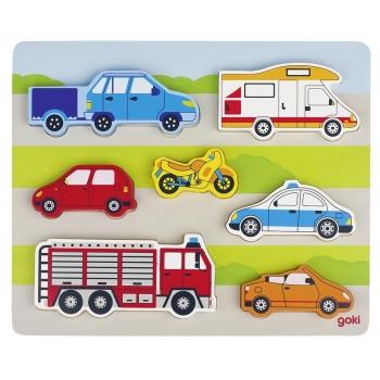 Puzzle bébé bois-Sur la route