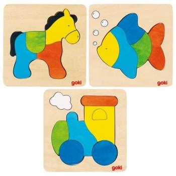 Lot de 3 Puzzle en...
